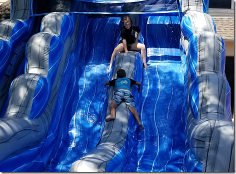 Landon's 9th Birthday Water Slide 1a