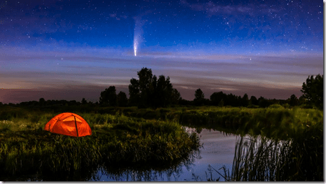 Comet NEOWISE over Tent