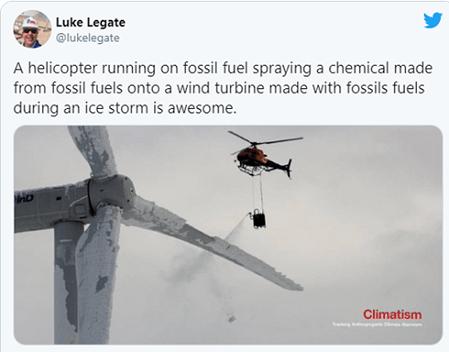 Helicopter Spraying Turbine