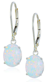 Jan Valentines Day Opal Earrings