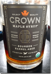 Brandi's Bourbon Barrel-Aged Maple Syrup