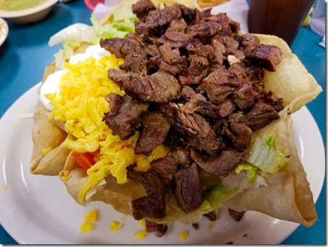 Los Ramirez Beef Fajita Taco Salad