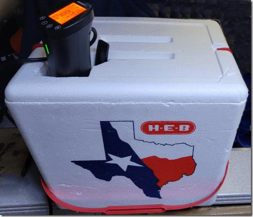 Immersion Cooker Styrofoam Cooler