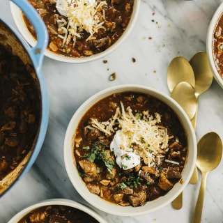 Paleo Chili Con Carne with Roasted Peppers