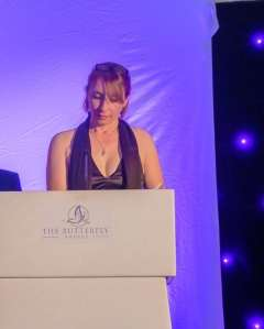 Speaking about DITW at The Butterfly Awards, Warwickshire October 2019