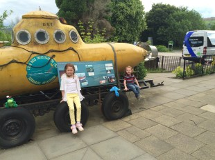 Yellow Submarine at Loch Ness Visitor Centre