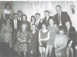 Bain Family fathering for Duncan Bain's emigration Oct 1964