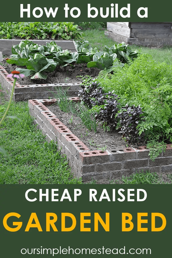 Raised Vegetable Garden Bricks