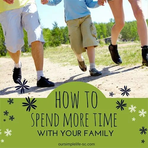spending time with family