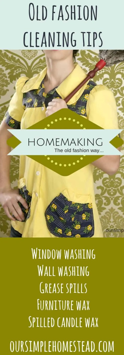 homemaking the old fashion way
