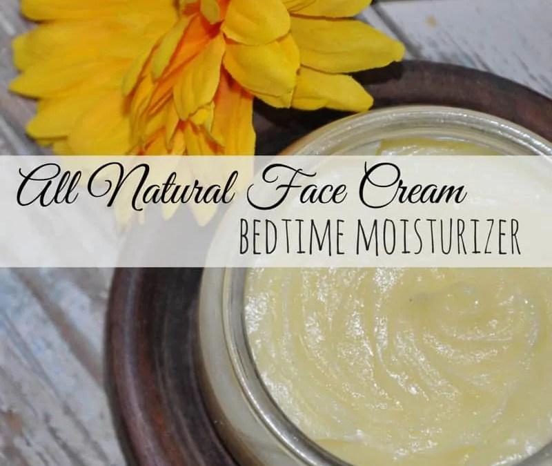 All Natural Face Cream - Bedtime Moisturizer