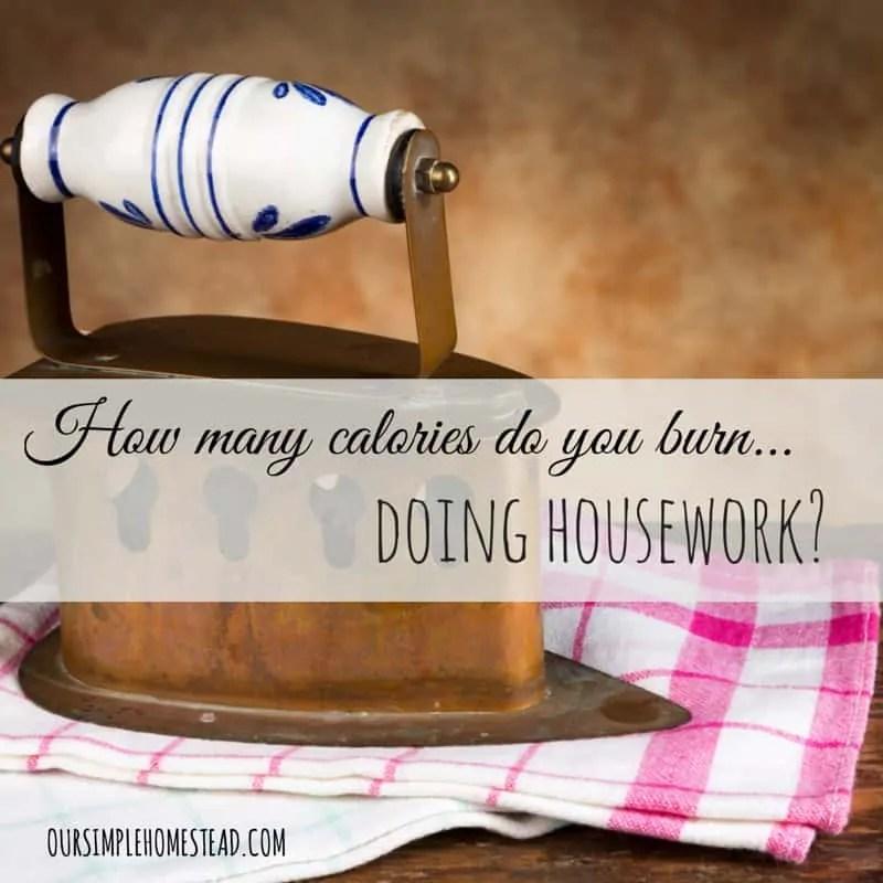 How many calories do you burn doing housework?