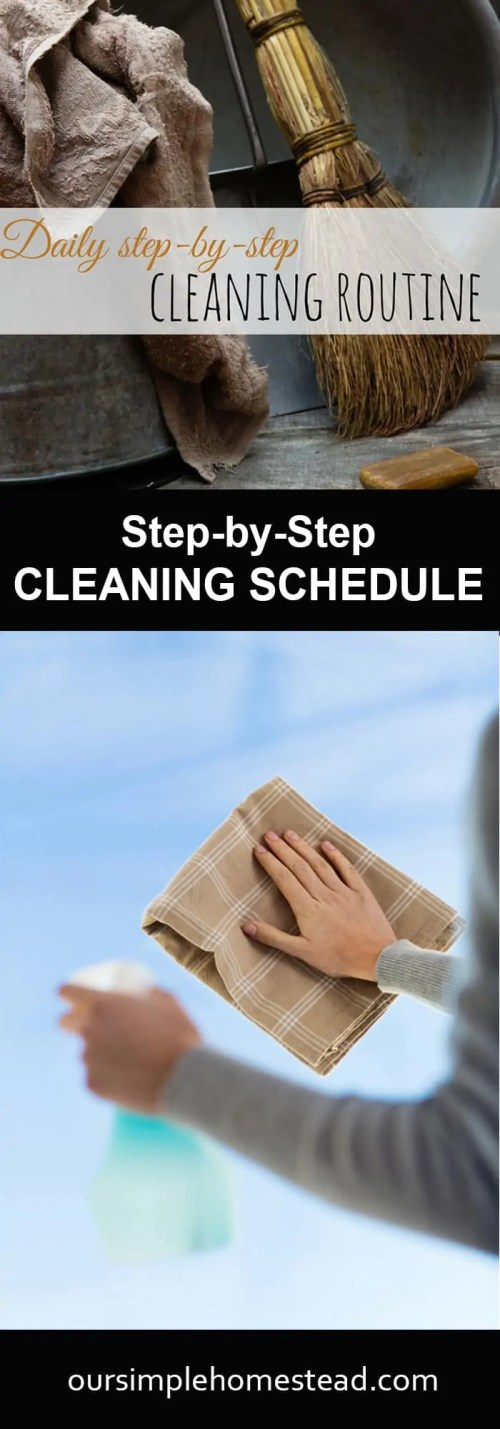 Daily Cleaning Schedule - Step-by-Step