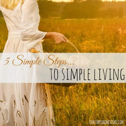 5 Simple Steps for Simple Living