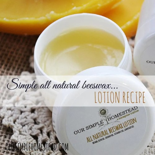 all natural beeswax lotion recipe