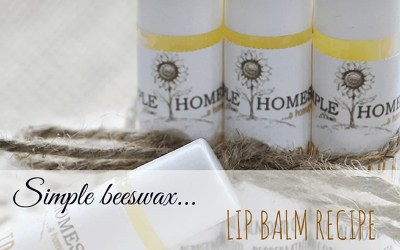 Simple Beeswax Lip Balm Recipe