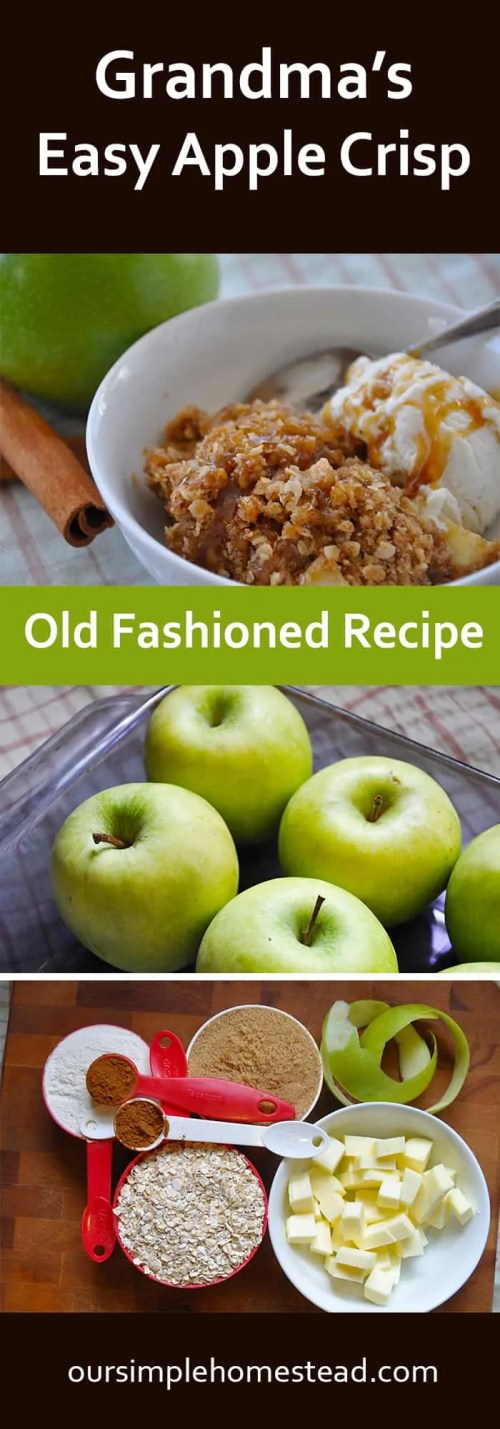 Easy Apple Crisp - Old Fashioned Recipe