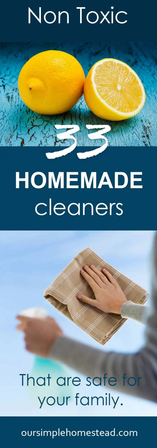 Homemade Cleaners- Non Toxic All Natural Cleaners