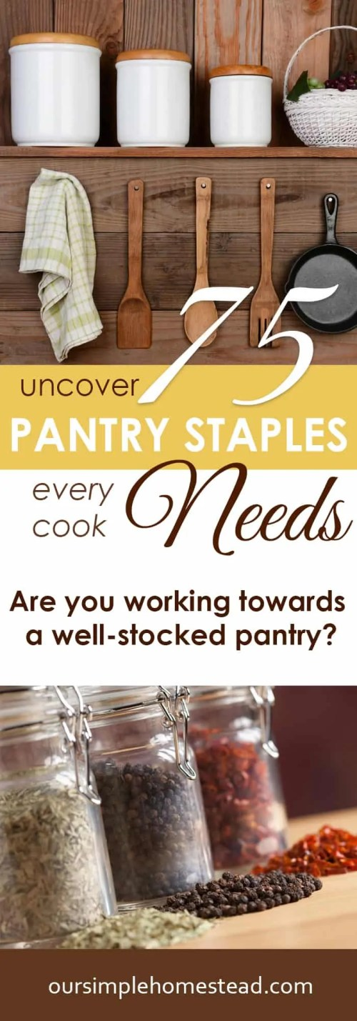 75 Pantry Staples Every Cook Needs
