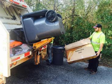 Garbage is twice as heavy the week after Christmas