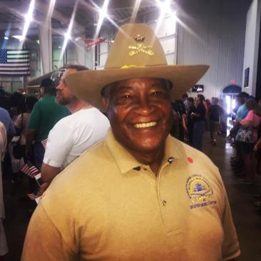 I am a member of the Buffalo Soldiers. When I retired I got an SUV and a horse and everything else is history