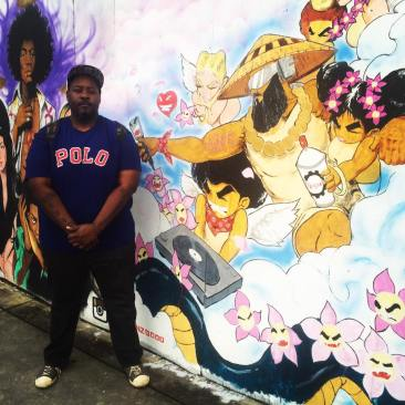 I paint the murals because they are a gift to the city. I wish my aunties and the old people who raised me could see this