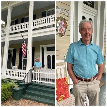 We are celebrating the 150th birthday of this house. It was built during a difficult time in Mobile.