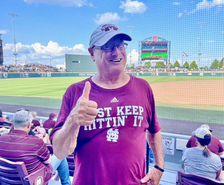 I'm the Candyman. I've been giving candy out at Mississippi State games for 22 years