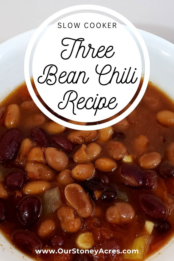 SLOW COOKER THREE BEAN CHILI RECIPE OUR STONEY ACRES