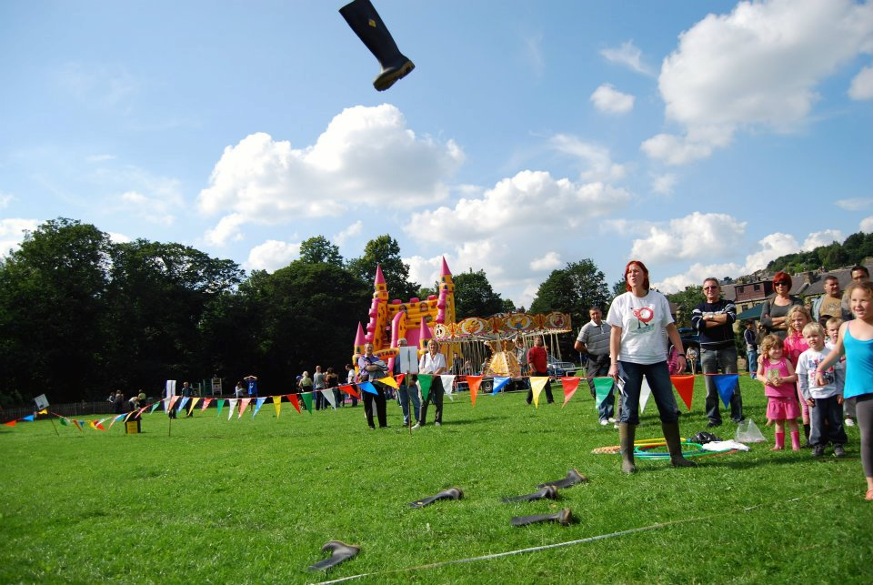 Welly wanging at Berry Brow Carnival