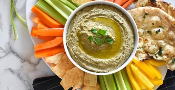 Cilantro Lentil Hummus