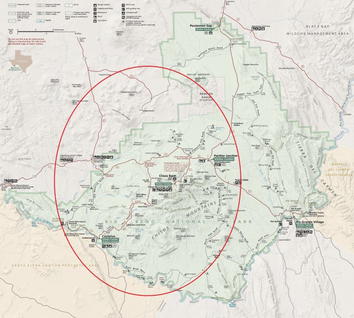 BIg Bend Map - west side circled
