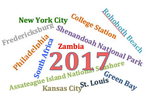 Destinations of 2017