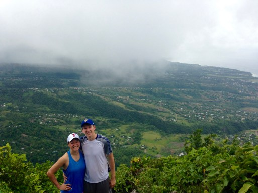 at the top of Gros Piton