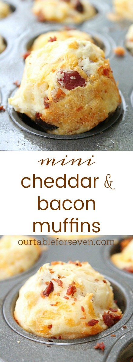 Mini Cheddar and Bacon Muffins from Table for Seven