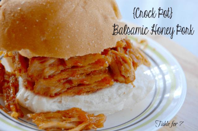 {Crock Pot} Balsamic Honey Pork