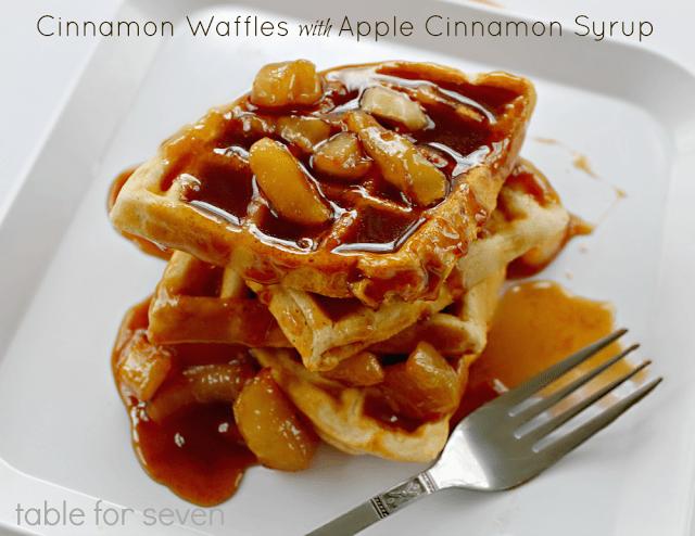 Cinnamon Waffles with Apple Cinnamon Syrup