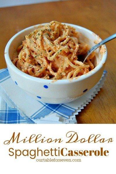 Million Dollar Spaghetti Casserole from Table for Seven