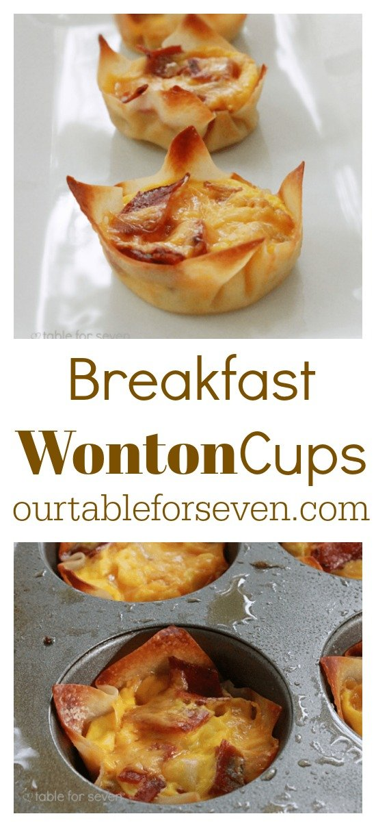 Breakfast Wonton Cups from Table for Seven