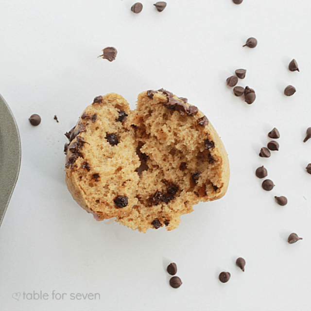 Chocolate Chip Cookie Muffins