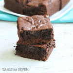 Cake Mix Brownies from Table for Seven