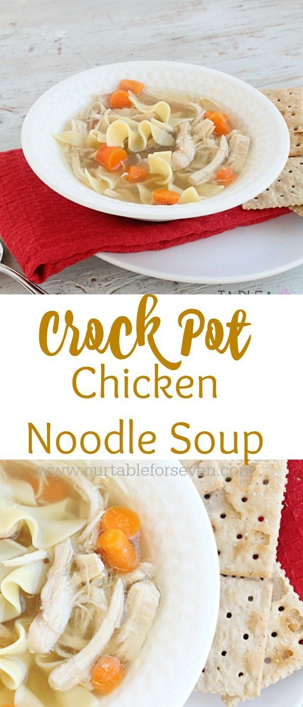 Crock Pot Chicken Noodle Soup from Table for Seven