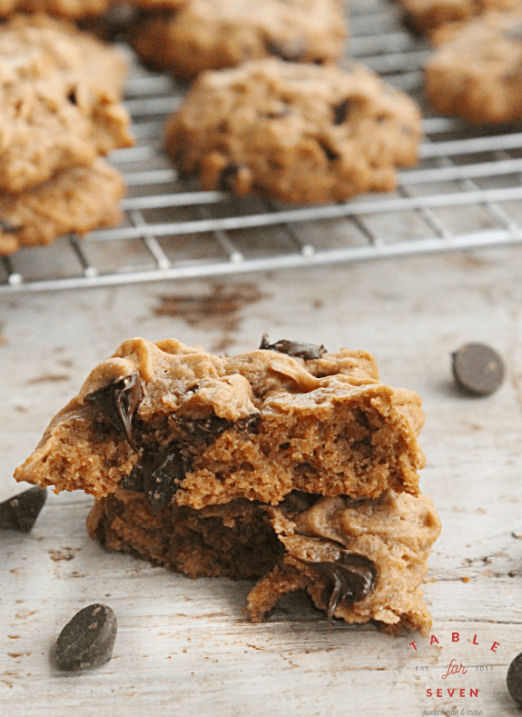 Dark Chocolate and Peanut Butter Oatmeal Cookies #FillTheCookieJar