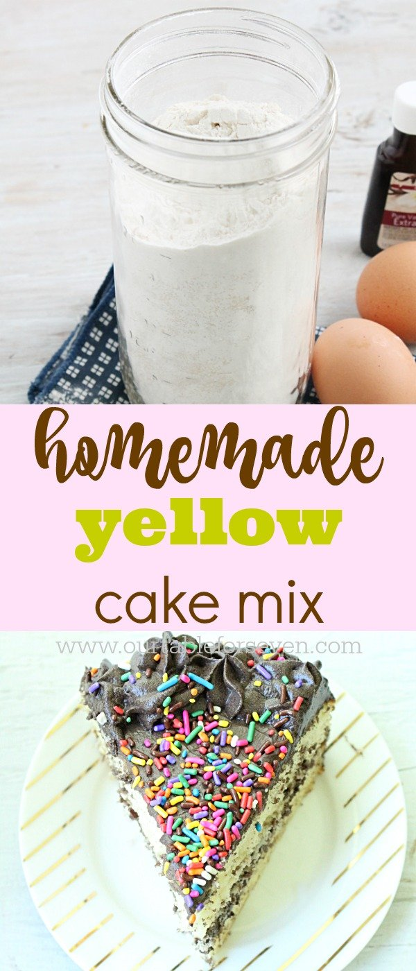 Homemade Yellow Cake Mix from Table for Seven