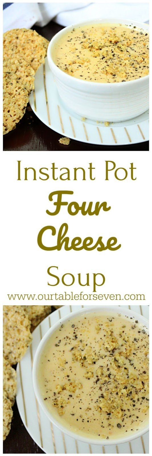 Instant Pot Four Cheese Soup from Table for Seven