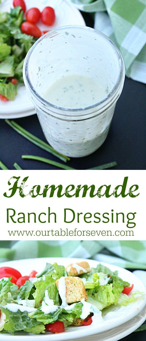 Homemade Ranch Dressing (No Mayo Needed!) from Table for Seven