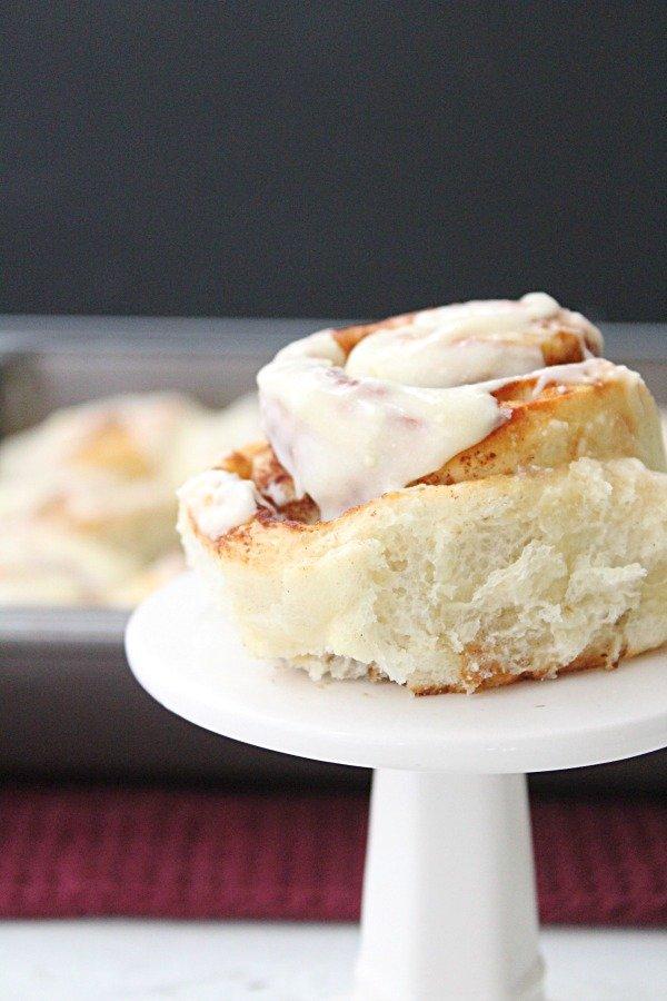 Frozen Bread Dough Cinnamon Rolls from Table for Seven