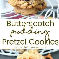Butterscotch Pudding Pretzel Cookies