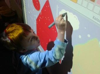 Wojtek drawing the cloud