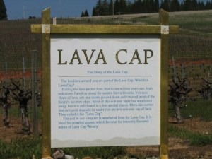 Sign Explaining Lava Cap Soil